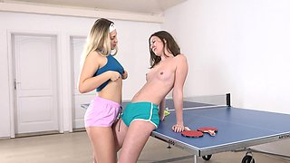 Lesbian pussy licking with sexy Selvaggia and Alessandra Amore