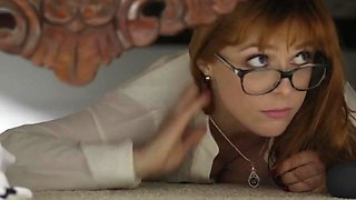 Damon Dice getting lucky with a babe with glasses Violet Starr