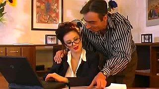Large marangos secretary fucking her boss