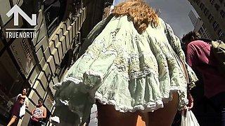 Street voyeur follows a gorgeous babe with a sensational ass